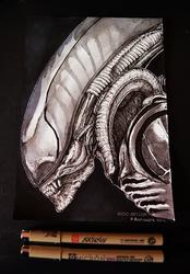 Inktober day 21 - Giger's Alien
