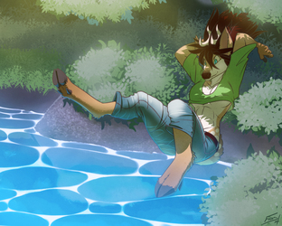 Skyla Jumping [commission]