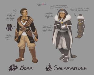 Ashani NPCs: Boar and Salamander