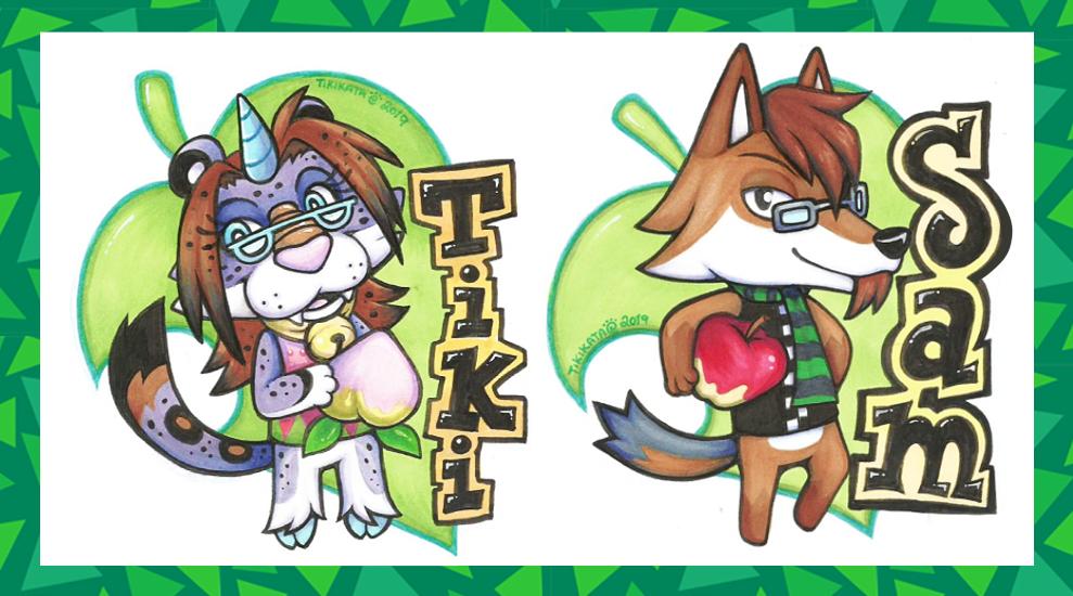 Tiki & Sam - Animal Crossing Badges
