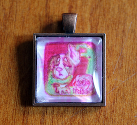 Missy Stamp Glass Pendant