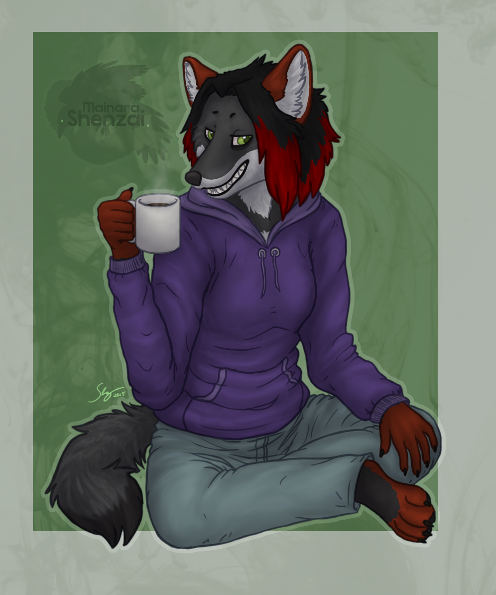 [Commission] Coffee with a Grin