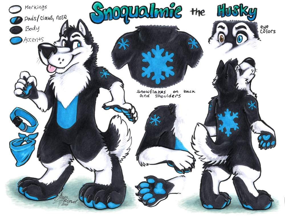 Snoqualmie the Husky character reference