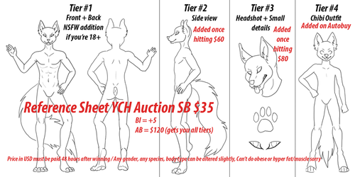 YCH AUCTION - Reference Sheet