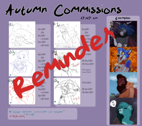 Commission and YCH Sheet Reminder