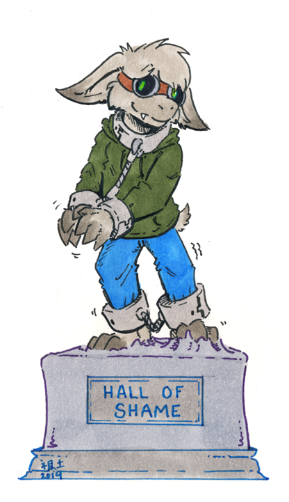 [flat colour] hall of shame