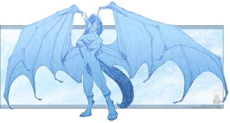 Lineart Comish - Frozen King