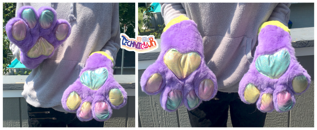 (FOR SALE) Lavender Rainbow Handpaws