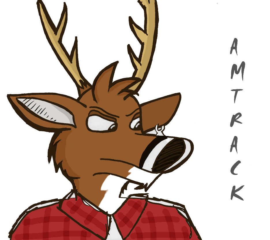 An aggravated deer (gift art)