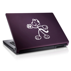Stick Figure Cat Furry Vinyl Decal