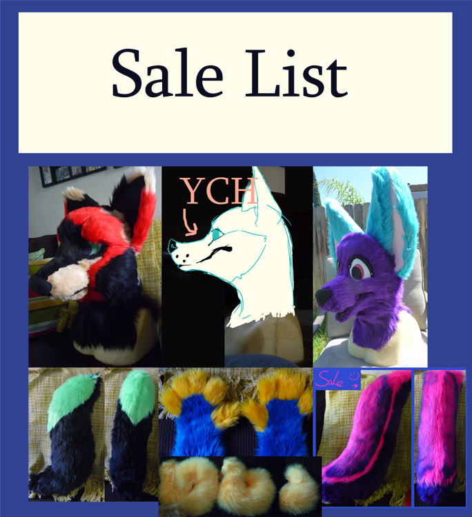 Fursuit Sale List
