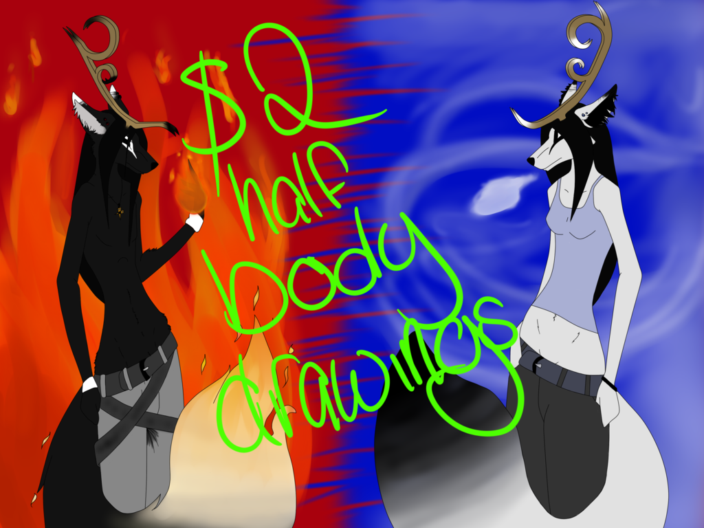 Most recent image: $2 half-body drawings-- flat colored.