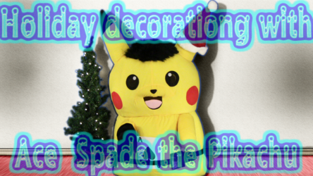 Mascot Pikachu Fursuiting: Ace Spade Tries to Decorate an X-Mas Tree