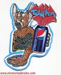 Telephone Drink badge Gift
