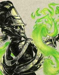 Inktober #5: Emerald Flame