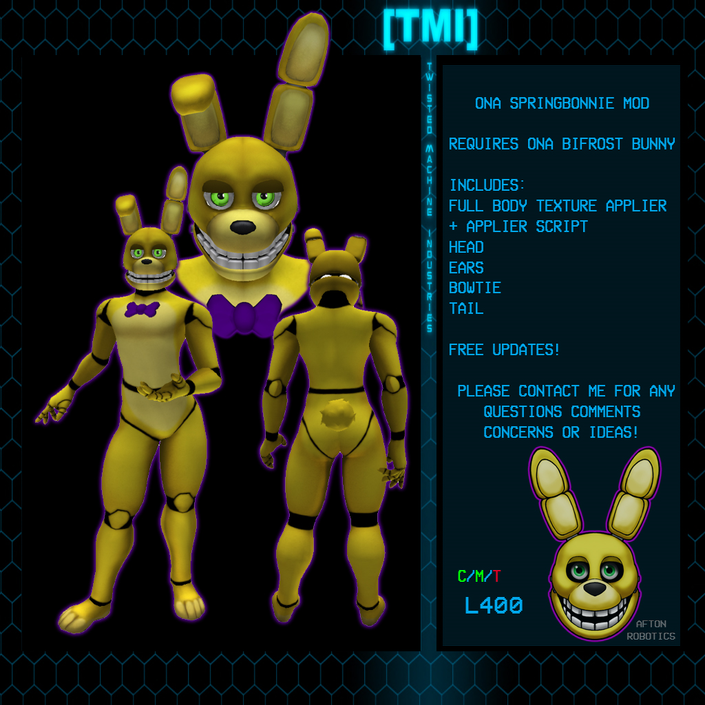 Featured image: Second Life: Bifrost Springbonnie Mod