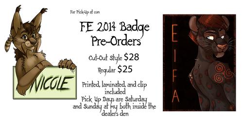 FE 2014 Badge Pre-Orders