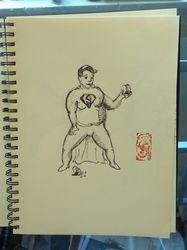 Inktober Day 16: Fat