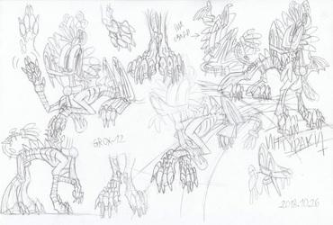 Inturaki's realistic paws and body-sketches