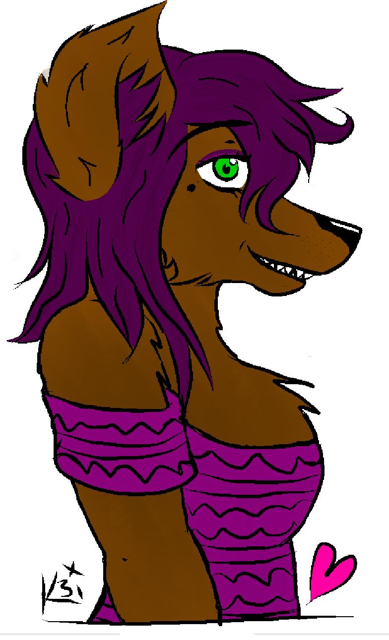 Purple-loving Wolf
