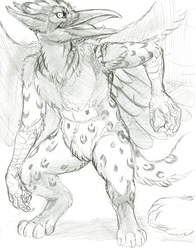 [Commission]When gryphons meets wereravens