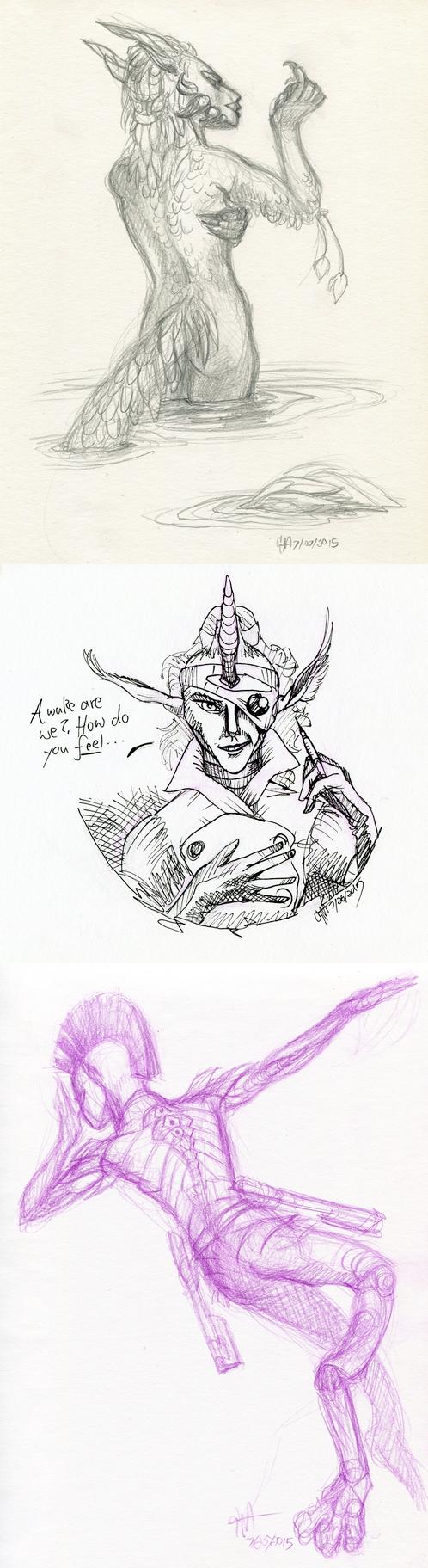 Femme Fatale sketches pg. 1