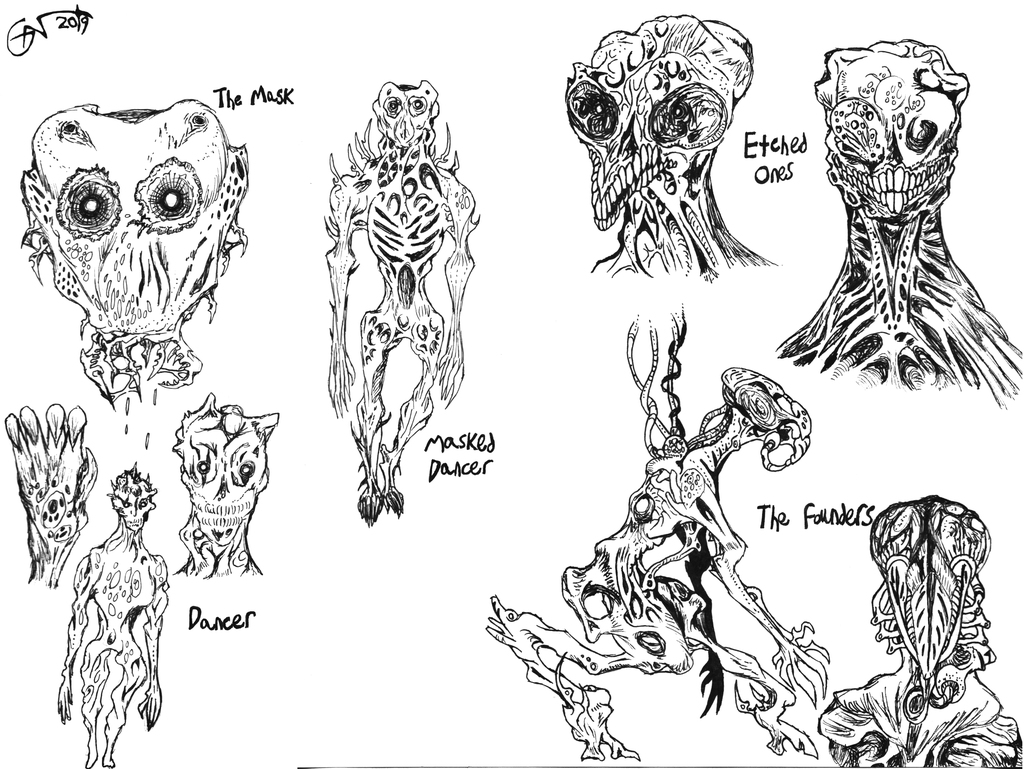 Horror Game Monster Concepts