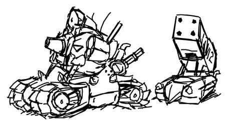 September 24th Metal Slug Vehicle Sketches