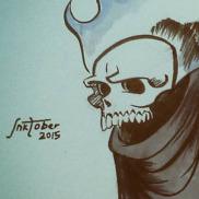 Inktober #3/Drawlloween #1- Ghost