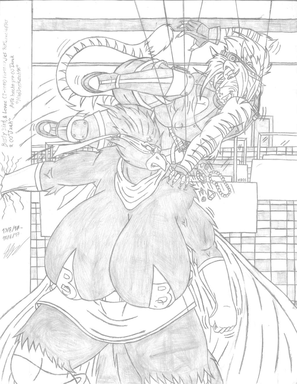 Busty Bird vs Loree (Jaeh s Gift) - Sketch