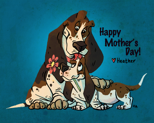 Mother's Day Bassets