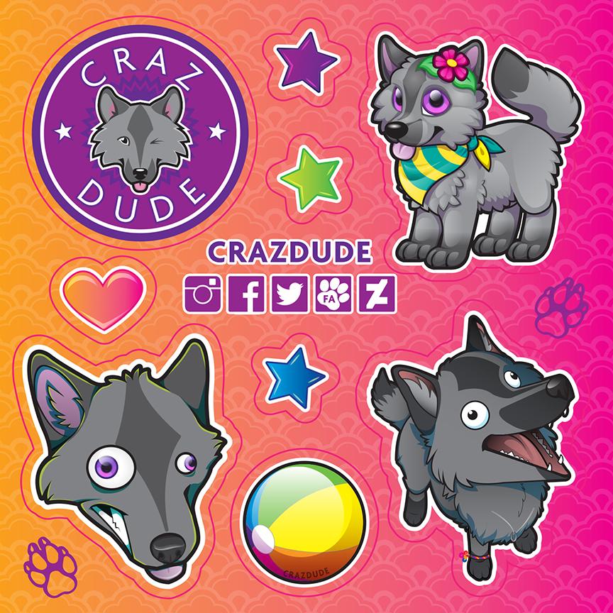 Crazdude Promo Stickers for ANE2016