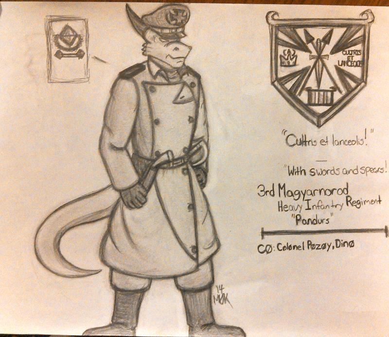 Colonel Pozoy, 3rd Pandurs
