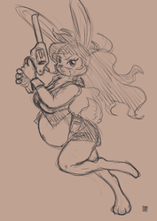 Bun bun with a gun