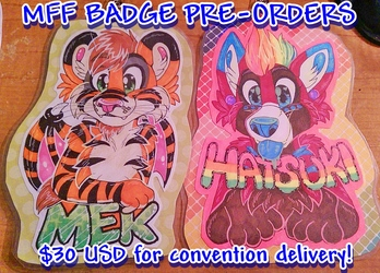 MFF Badges OPEN! $30 Each!