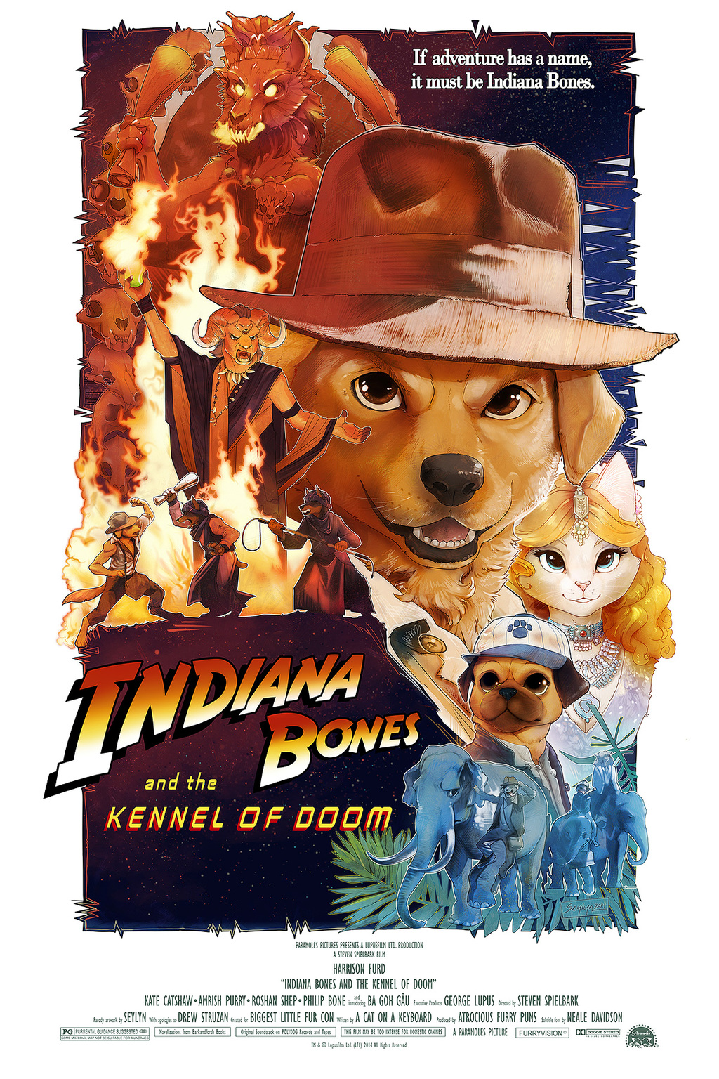 Indiana Bones and the Kennel of Doom [BLFC Poster]