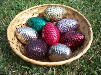 I've got a lovely bunch of... dragon eggs?