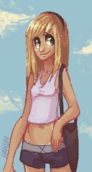 Summer Smile - ms paint doodle