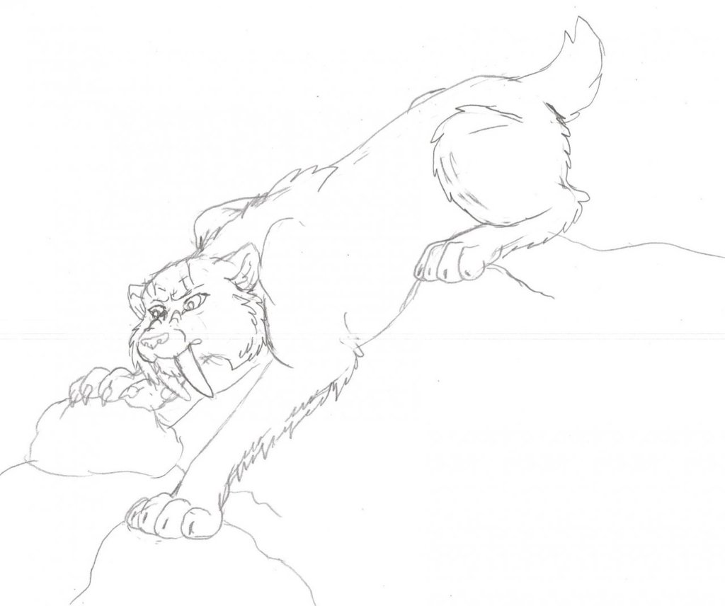 Stalking Smilodon