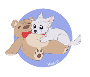 Cuddles with teddy