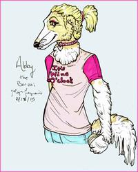 Abby the Borzoi