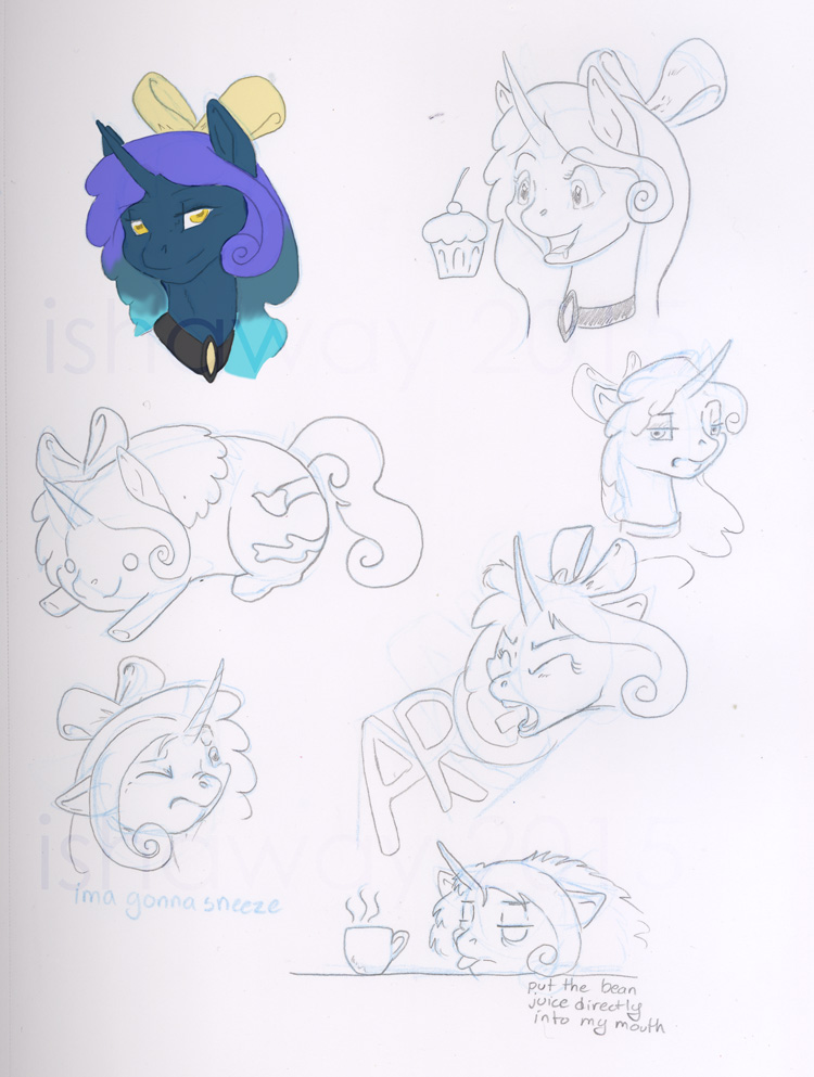 Sketch Page -   Aurora Jane