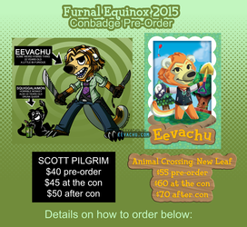 Animal Crossing & Scott Pilgrim Style Badge Pre-Order