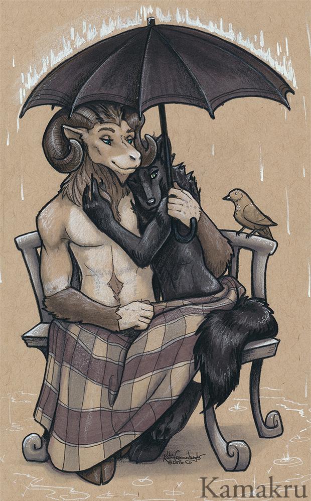 The rain's not so bad