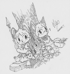Utunu & Kikivuli Sketch by Silverfox