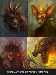 Portrait commissions open