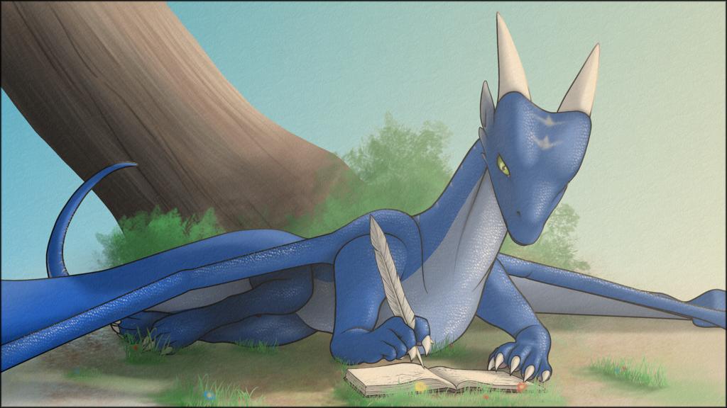 Saphiron, dragon of Akel