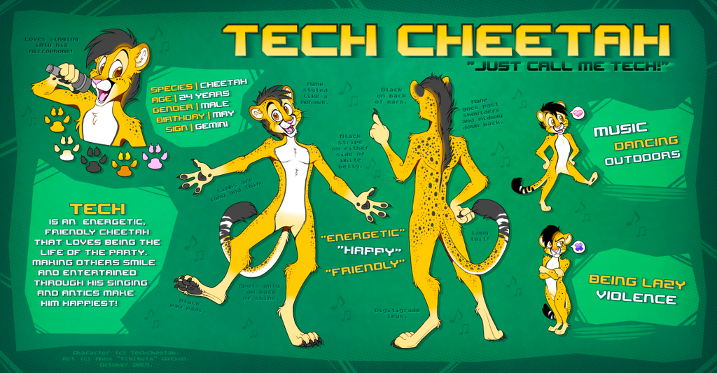 Tech Cheetah - Reference Sheet (Anthrocon 2015)