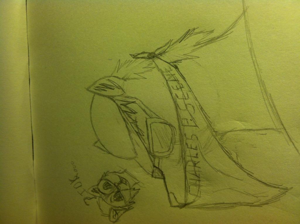 Charlie scene wolf doodle