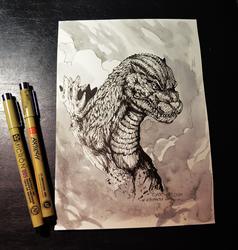 Inktober day 20 - Godzilla